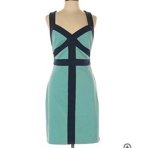 Navy and aqua dress